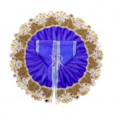 Blue Kundan Pearl Lace Work Dress