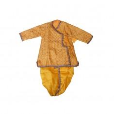 Designer Yellow Embriodary Work Krishna Dress