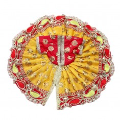 Yellow Pearl Work Embriodery Work