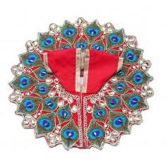 Red Mor Pankh Stone Work Dress