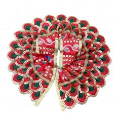 Red Mor Pankh Sitara Work Dress