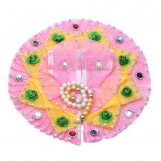 Pink Flower Stone Work Dress