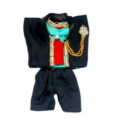 Designer Laddu Gopal Black Coat Pant Set
