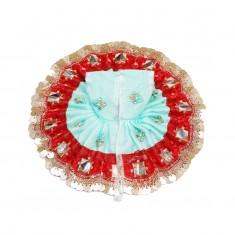 Sea Green Foil Sequins Lace Work Dress