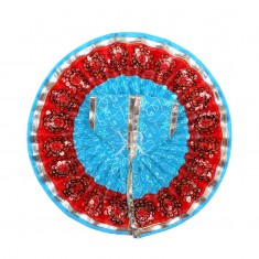 Firozi Net Embroidered Sitara Lace Work Dress