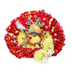 Designer Yellow Red Potli Work Dress