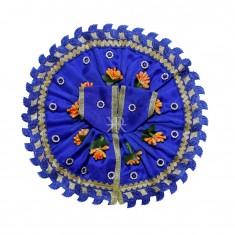 Blue Flower Stone patch Work Dress