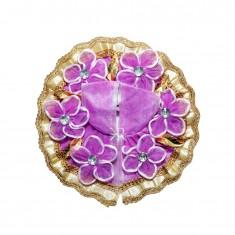 Beautiful Purple Flower Patch Work Dress