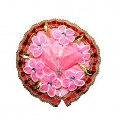 Beautiful Pink Flower Patch Work Dress
