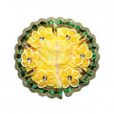 Beautiful Yellow Flower Patch Work Dress