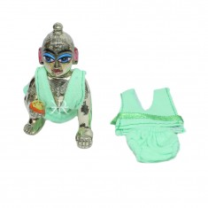 Parrot Green Hoseiry Laddu Gopal Inner Wear Set