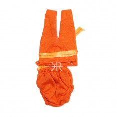 Orange Hoseiry Laddu Gopal Inner Wear Set