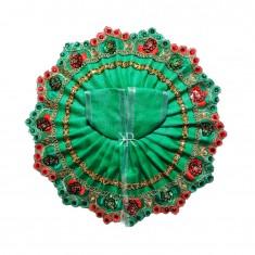 Green Sitara Lace Work Dress