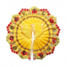Yellow Sitara Lace Work Dress
