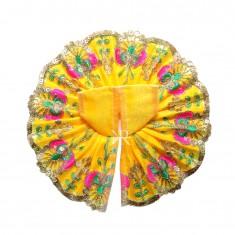 Yellow Sitara Embroidered Lace Work Dress