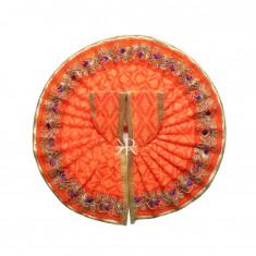 Orange Zari Lace Work Dress