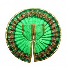 Parrot Green Zari Lace Work Dress