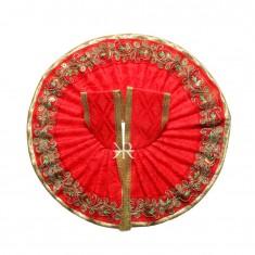 Red Zari Lace Work Dress