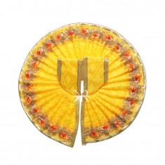 Yellow Zari Lace Work Dress
