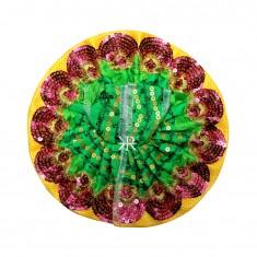 Green Sitara Embroidered Work Dress