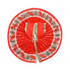 Orange Sitara Embroidered Work Dress