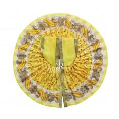 Yellow Sitara Embroidered Work Dress