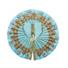 Sky Blue Zari Embriodery Work Dress