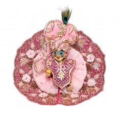 Designer Wine Pink Heavy Zardozi Hand Work Dress