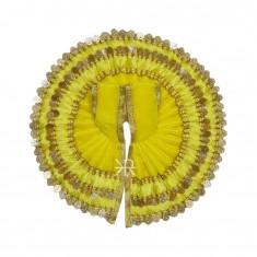 Lemon Sequins Lace Work Winter Dress