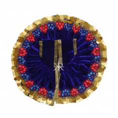 Royal Blue Sequins Lace Work Winter Dress
