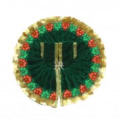 Green Sequins Lace Work Winter Dress