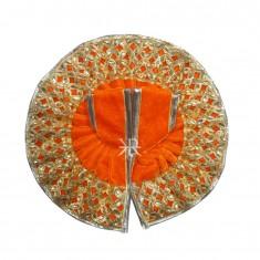 Orange Gotta Kundan Lace Work Winter Dress
