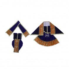 Nevy Blue Zari Embroidered Lace Work Radha Krishna Dress
