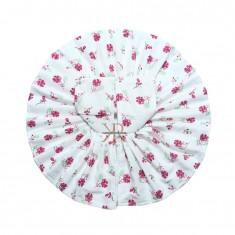 White Megenta Floral Print Work Dress