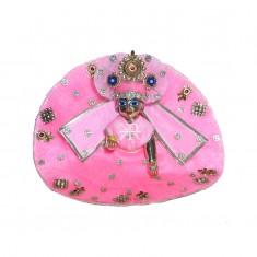 Designer Pink Stone Patch Work Dress