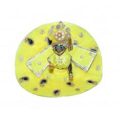 Designer Yellow Stone Patch Work Dress
