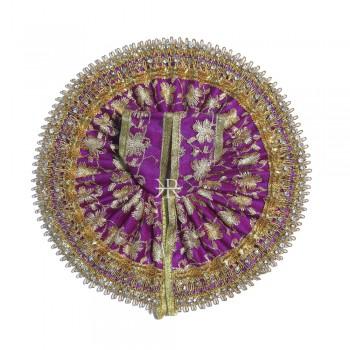 Purple Embrodiery Gotta Stone Lace Work Dress