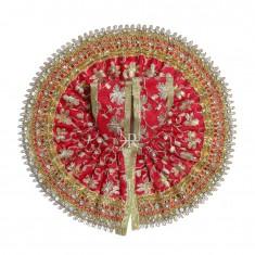 Red Embrodiery Gotta Stone Lace Work Dress