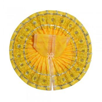 Yellow Embrodiery Gotta Lace Work Dress
