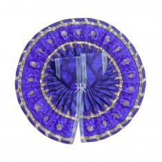 Blue Embrodiery Gotta Lace Work Dress