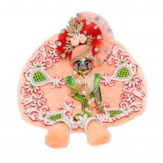 Designer Peach Heavy Pearl Stone Hand Work Dress
