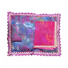 Rani Carry Print Foil Lace Work Bed Set
