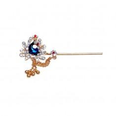 Elegant Meena Stone Work Peacock Bansi / Flute