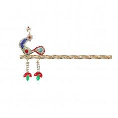 Designer Peacock Multi Stone Work Bansi / Flute