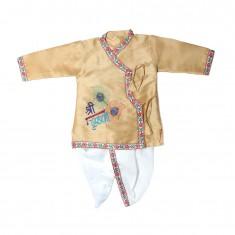 Beautiful Brown Silk Embriodary Work  Krishna Dress