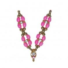 Pink Stone Pearl Work Mala