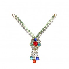 Parrot White Multi Stone Work Mala