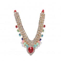 Multi Stone Work Necklace / Mala