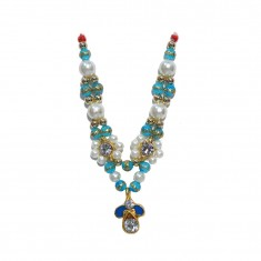 Golden Firozi Stone Pearl Work Mala