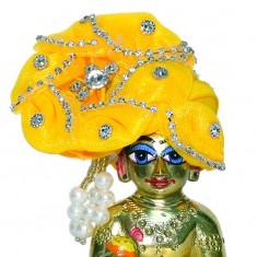 Yellow Stone Work Laddu Gopal Pugree